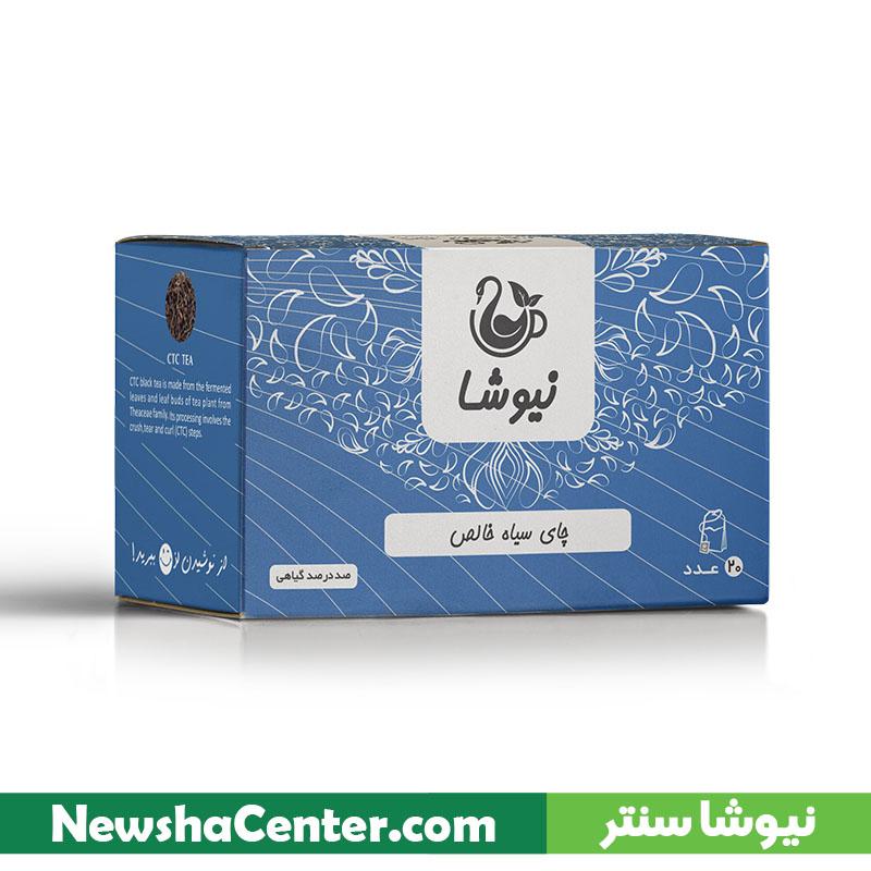 چای سیاه سی تی سی کیسه ای ۲۰ عددی نیوشا (لفاف آلومینیومی)