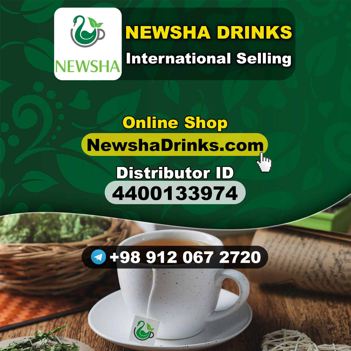 Newsha Drinks International Selling